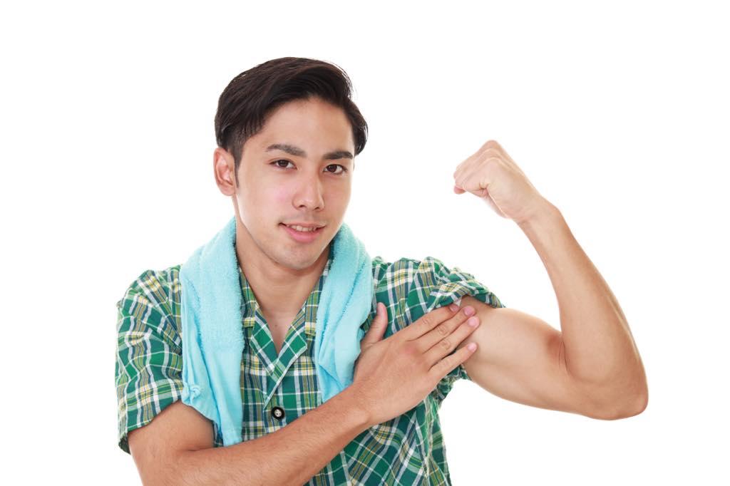 筋肉痛が緩和した男性
