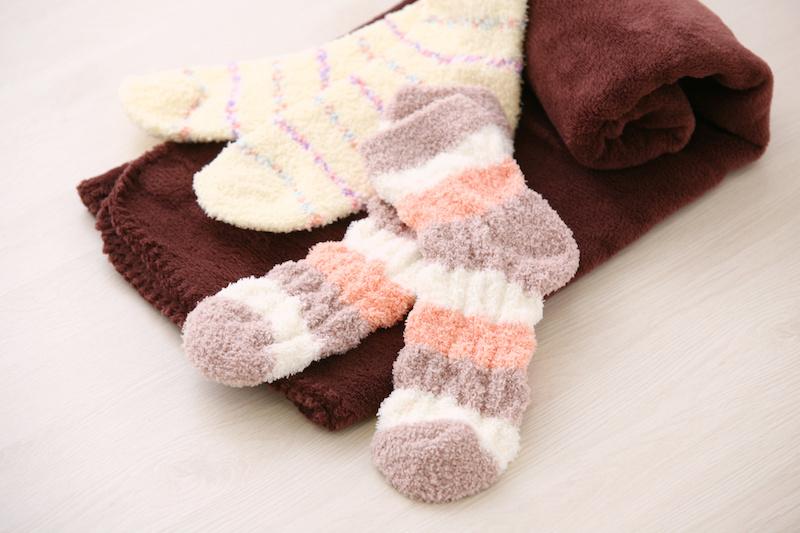 防寒、靴下、マフラー