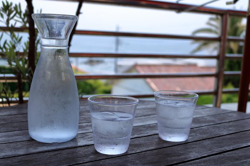窓辺の経口補水液
