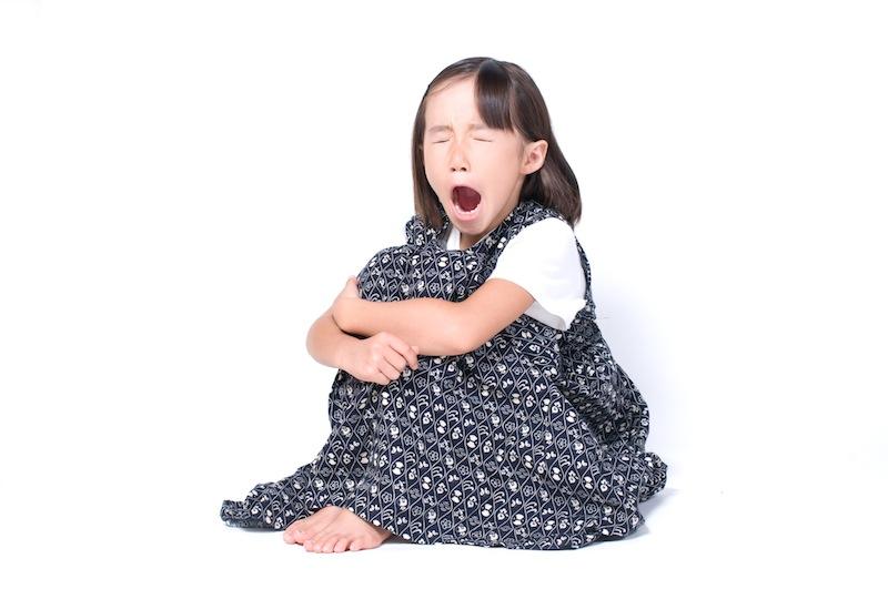 寝不足の子供