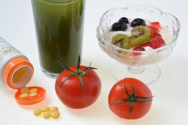 サプリと果物